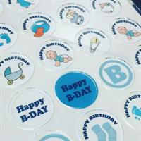 Baby boy set to 4 cm round stencil mat Transfer sheet