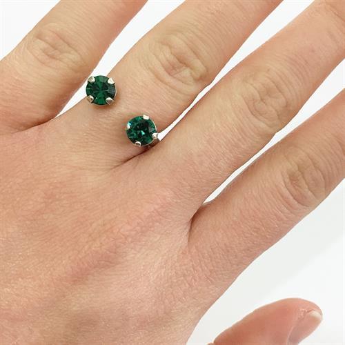 טבעת אן כסף ירוק