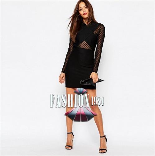 שמלה מיני מעוצבת דגם קתרין (צבע שחור)