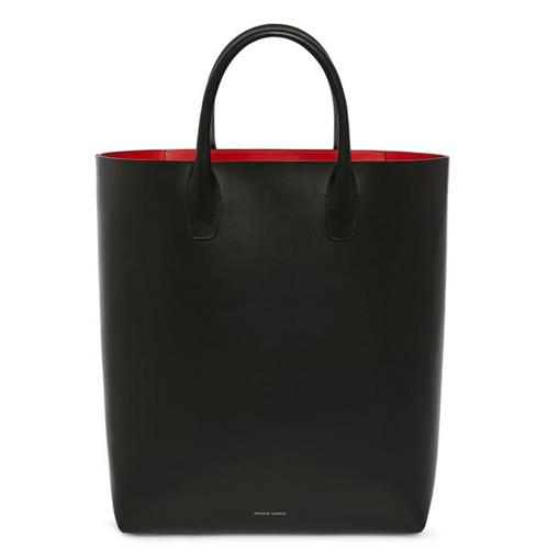 NORTH SOUTH TOTE VEGETABLE BLACK FLAMMA