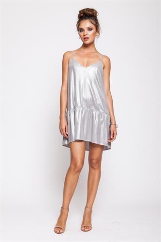 שמלת טרזר כסף בהיר