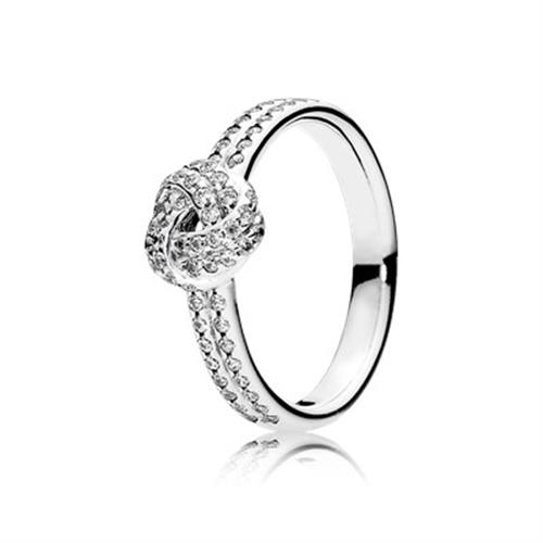 טבעת כסף קשר אהבה מנצנץ 190997CZ
