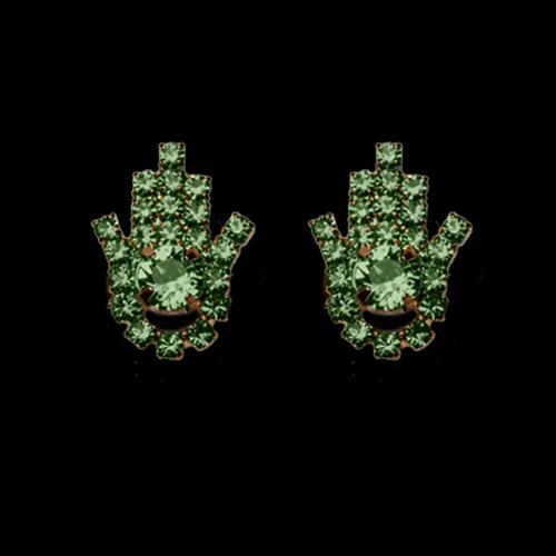 זוג קליפסים חמסה - ירוק PERIDOT