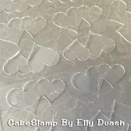 Double heart shape plastic Stencils Mat for Chocolate