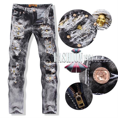 ג'ינס מעוצב קרעים דגם פארן