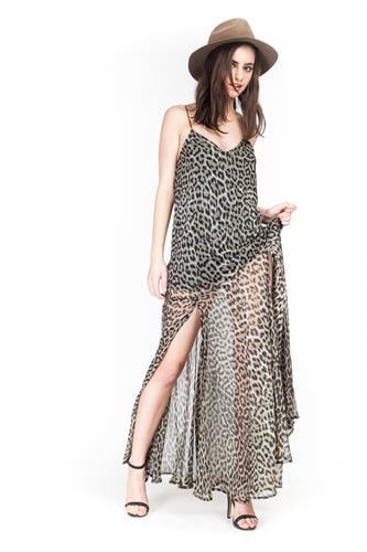 שמלת קלואי מנומר