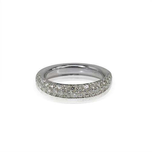 טבעת זהב 18K משובצת יהלומים 0.80 קראט