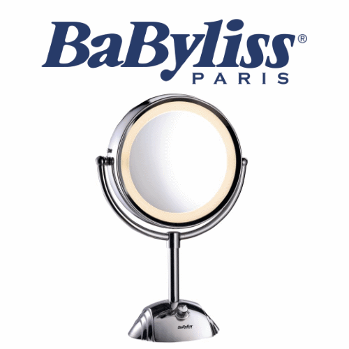 BaByliss מראת איפור דו צדדית מגדילה פי 8   דגם: BA-8438ILE