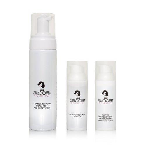 מארז טיפוח לכל סוגי העור ליום וללילה, קצף+לחותspf50+לחות אקטיבית ללילה