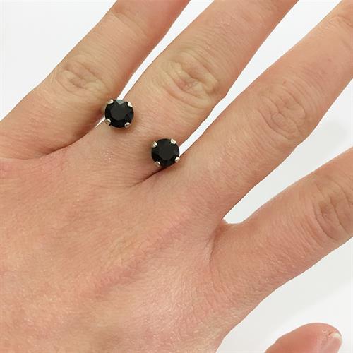 טבעת אן כסף שחור