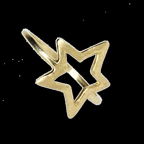 טבעת ילדות ונערות זהב צהוב 14K כוכב חלול  OP07160225XX