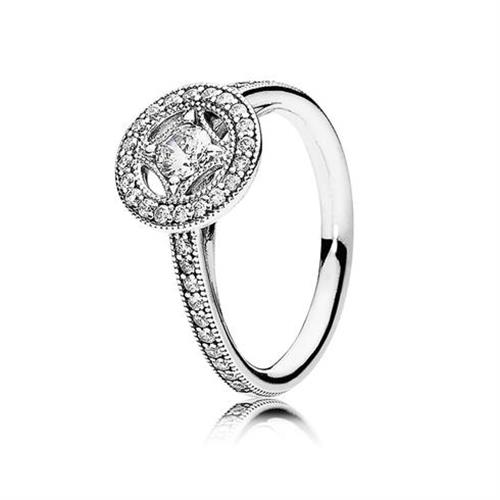 טבעת כסף קסם וינטג' 191006CZ