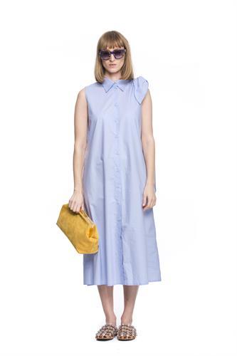 MM6 BOW BLUE DRESS