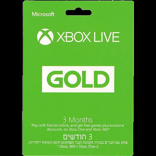 3 חודשים XBOX Live Gold