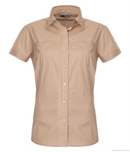 חולצת נשים אופנתית נורט פייס מדגם The North Face Women chipara shirt Dune beige