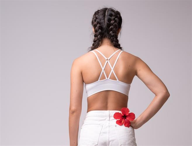 Cross Back Top - Pure White
