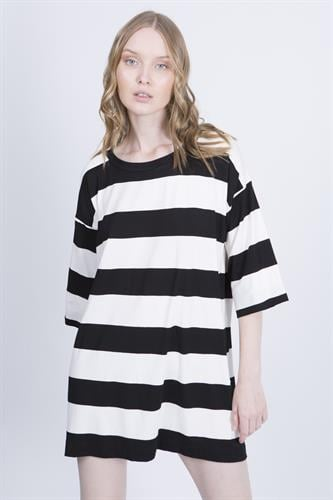 שמלת מיסטי שחור לבן