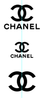 SET OF 3 STAMPS - CHANEL