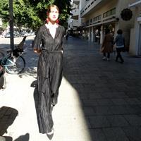 אוברול סאשה פליסה לייקרה שחור