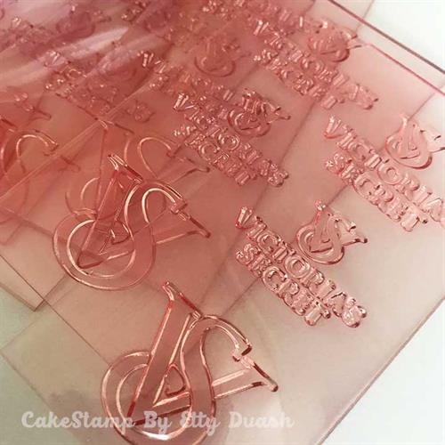 Set of 3 Victoria's secret logo Stamps
