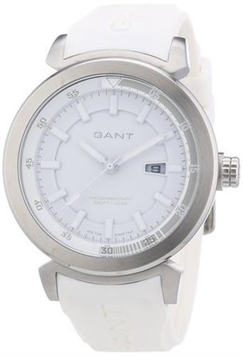 שעון יד אנלוגי גברים נשים רצועת סיליקון לבנה GANT W70352