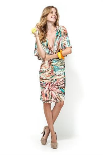 שמלת מוניקה צבעוני ירוק