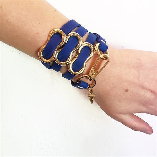 צמיד שמיניה כחול זהב