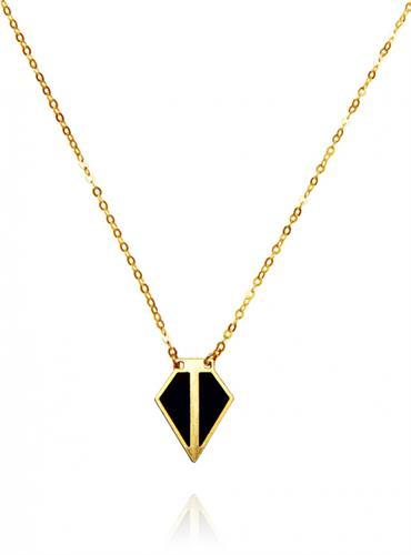 שרשרת מיני פסקל זהב שחור