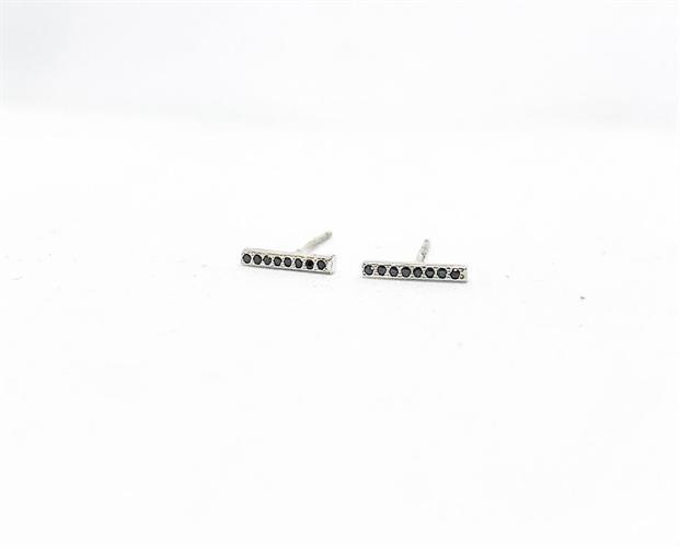 עגילי פס יהלומים- בודד