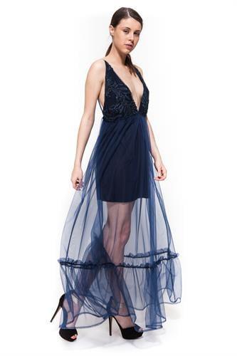 שמלת אמבר כחול