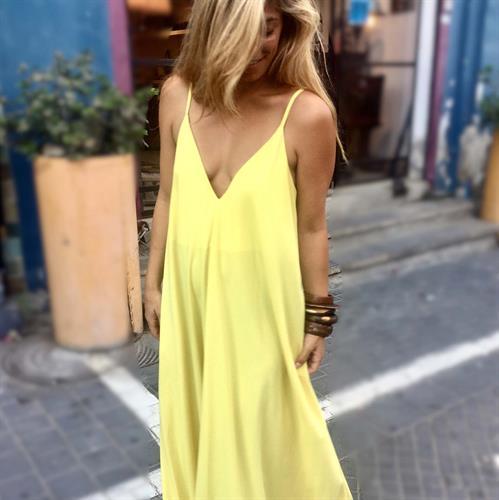 שמלת פיית' צהוב
