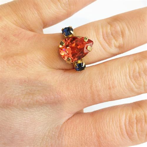 טבעת קלייר זהב פיץ'