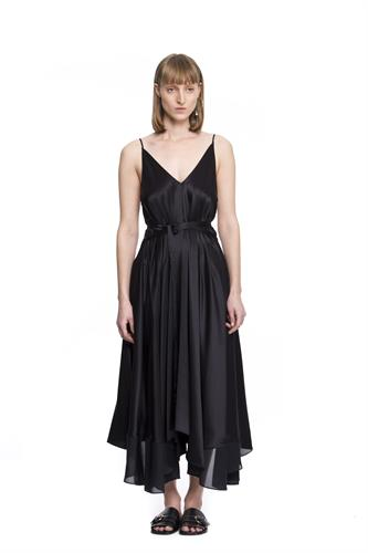 SILK CHARMEUS DRESS