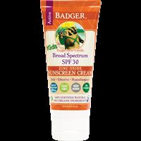 קרם הגנה badger - ילדים ומבוגרים בריח עדין של תפוז 30spf