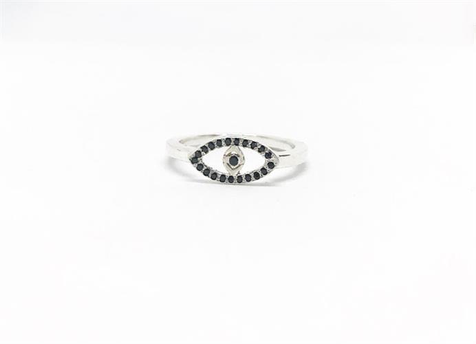 טבעת עין יהלומים שחורים