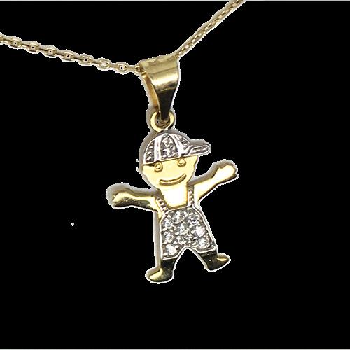 תליון בן זהב 14K צהוב  OP0716160XX
