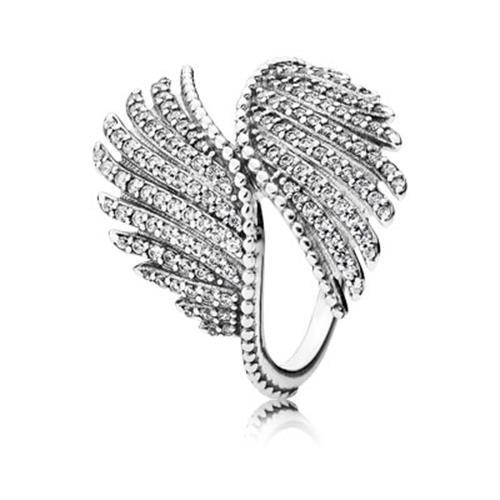 טבעת כסף פנדורה MAJESTIC FEATHERS 190960CZ