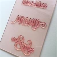 SET OF 3 STAMPS - MR and MRS