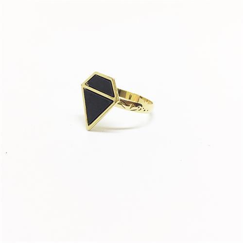 טבעת פרנקי זהב שחור