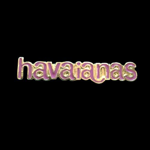 זוג קליפסים לוגו הוויאנס מלאים אמייל - פוקסיה