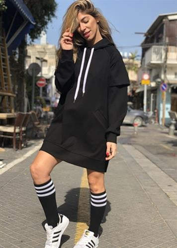 שמלת פולו שחורה