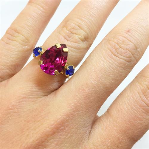 טבעת קלייר זהב ורוד