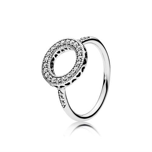 טבעת כסף הילת לבבות PANDORA 191039CZ