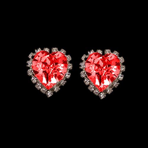 זוג קליפסים לב מתוק - LIGHT SIAM-אדום
