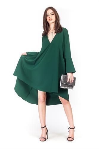 שמלת סלסט ירוקה