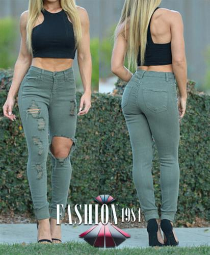 ג'ינס מעוצב קרעים דגם ריאן