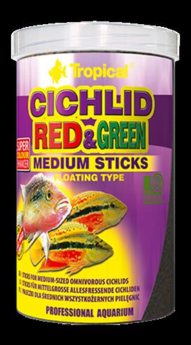 """מזון במבה קטנה לדגים טורפים עם מחזק צבע 250 מ""""ל (tropical)"""