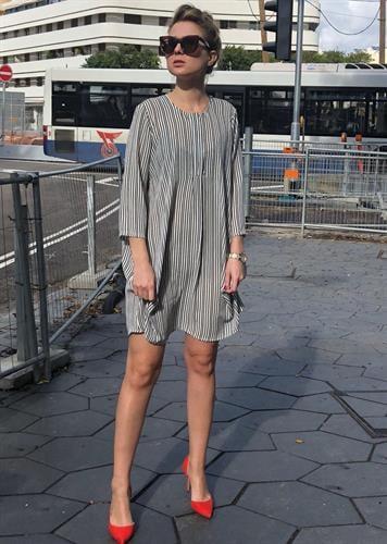 שמלת פלואו פסים