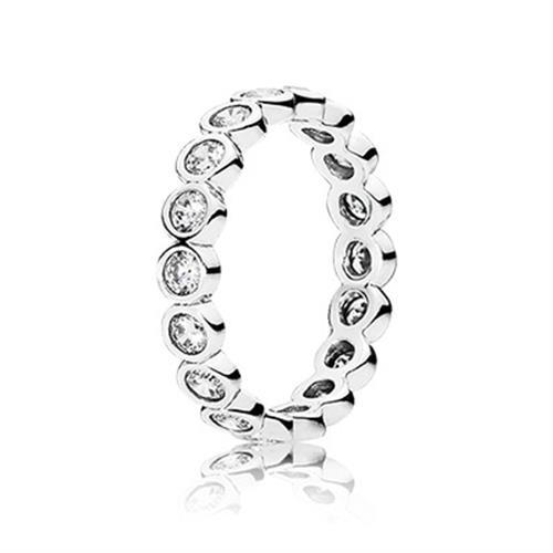 טבעת כסף פנדורה 190942CZ