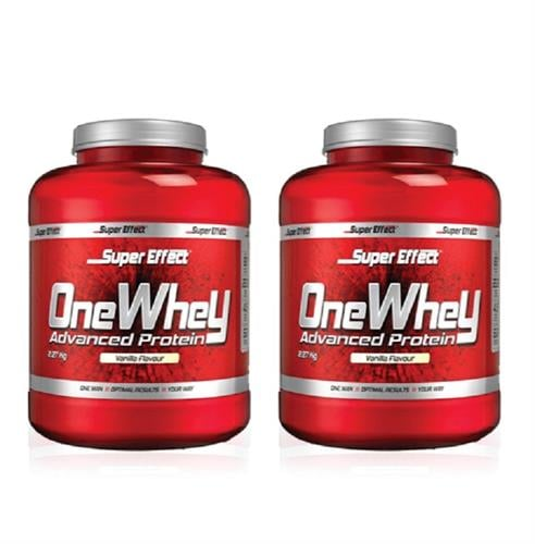 זוג אבקות חלבון כשר ONE WHEY  2.3kg  Super Effect  + שייקר מתנה